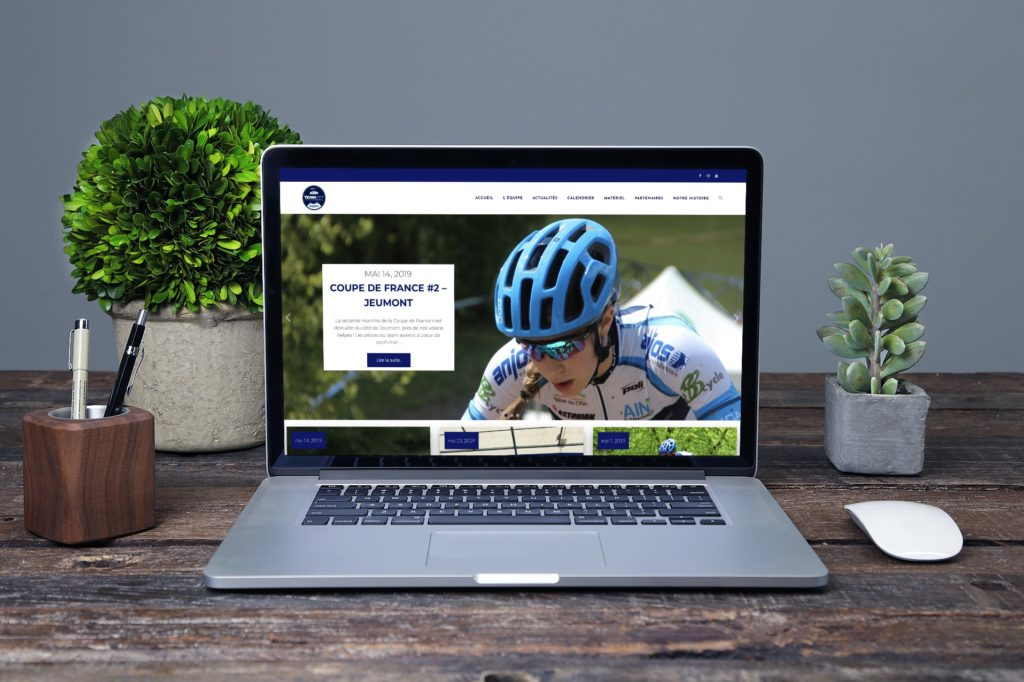 Site vitrine TEAM VTT VCA - H&B Création Agence Web Marketing