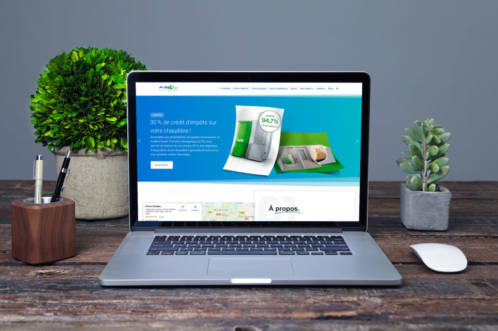 Site web vitrine Ainnov Energies - H&B Création Agence Web Marketing