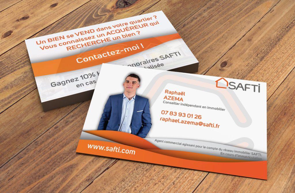 Cartes de visites www.safti.fr - H&B Création Agence Web Marketing